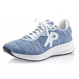 Rieker N5608-12 - Rieker Schnürschuhe Blau