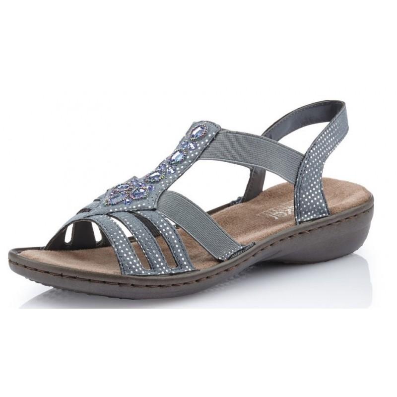 Rieker Damen Sandale blau 60813 12