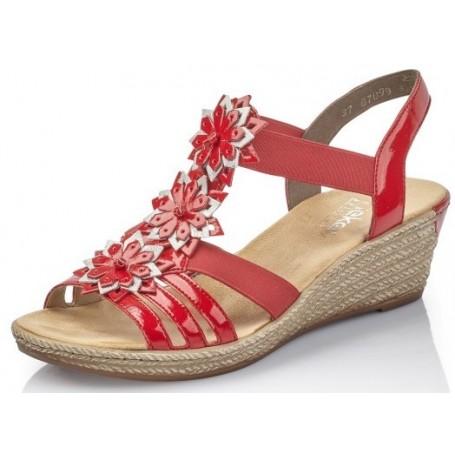 sports shoes 76996 3da37 Rieker 62461-34 - Rieker Sandalen rot
