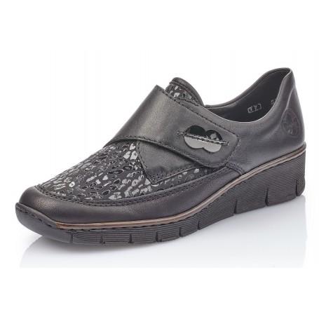 Rieker 537C0-00 - Slipper (schwarz)