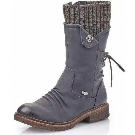 Knee High Boots RIEKER 94750 14 Blau