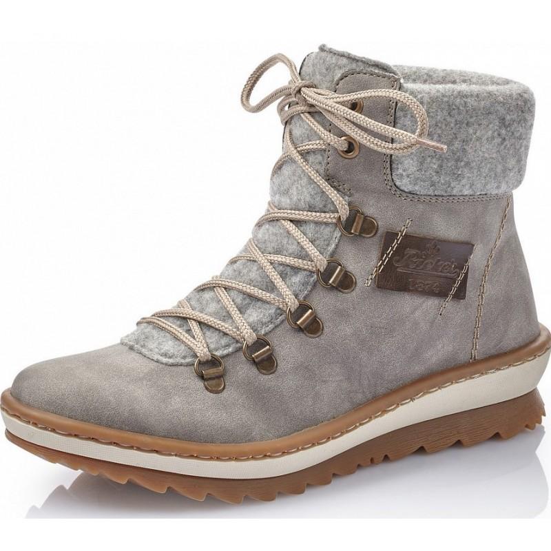 Rieker Z8643 40 Rieker Boots Grau qmuCb
