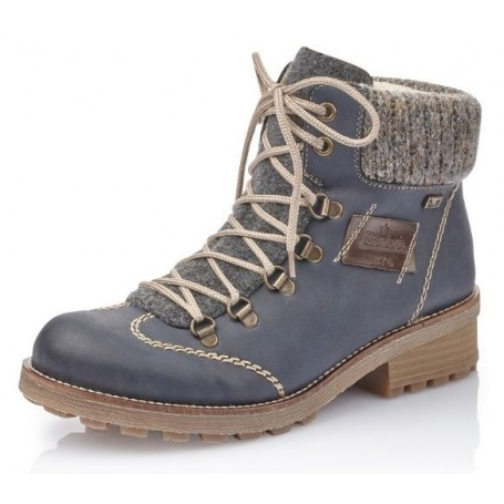 Boots RIEKER L5223 00 Blau Kombi Boots High boots and