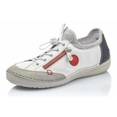 Rieker 52563-40 - Sneaker (Weiss Kombi)