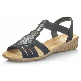 Rieker 61673-00 - Sandalen (schwarz)