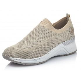 Rieker N4374-64 - Rieker Sneaker Beige
