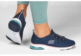 Skechers Damen Sneaker Blau – Super bequem dank Skechers Memory Foam
